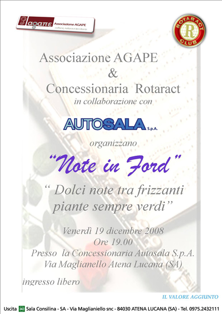 note in Ford - Atena Lucana - Autosala