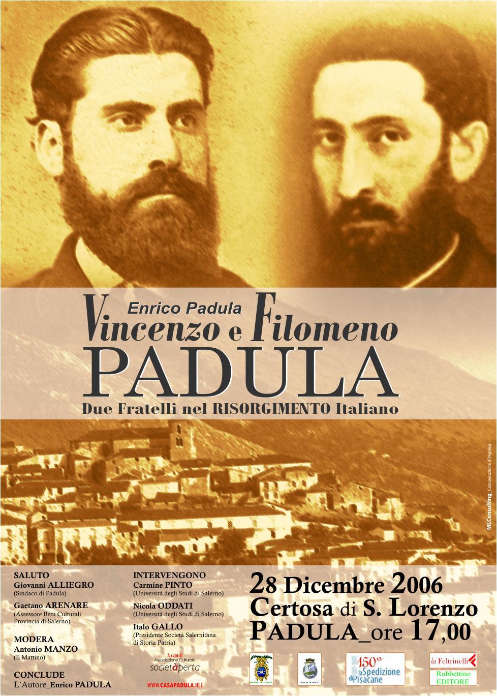 Vincenzo e Filomeno Padula due fratelli nel risorgimento italiano
